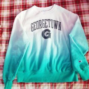 Georgetown Champion Reverse-Weave Crew Sweatshirt